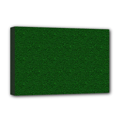Texture Green Rush Easter Deluxe Canvas 18  x 12