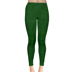 Texture Green Rush Easter Leggings