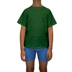 Texture Green Rush Easter Kids  Short Sleeve Swimwear by Simbadda