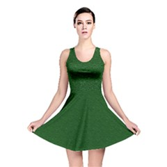 Texture Green Rush Easter Reversible Skater Dress by Simbadda