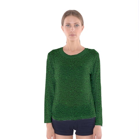 Texture Green Rush Easter Women s Long Sleeve Tee by Simbadda