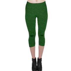 Texture Green Rush Easter Capri Leggings  by Simbadda