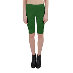 Texture Green Rush Easter Cropped Leggings  by Simbadda