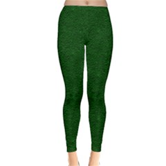 Texture Green Rush Easter Classic Winter Leggings