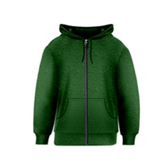 Texture Green Rush Easter Kids  Zipper Hoodie by Simbadda