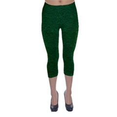 Texture Green Rush Easter Capri Winter Leggings