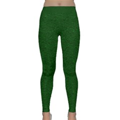 Texture Green Rush Easter Classic Yoga Leggings by Simbadda