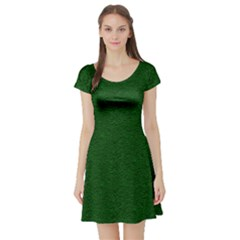 Texture Green Rush Easter Short Sleeve Skater Dress by Simbadda