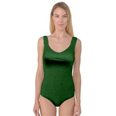 Texture Green Rush Easter Princess Tank Leotard  by Simbadda