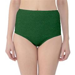 Texture Green Rush Easter High-waist Bikini Bottoms by Simbadda