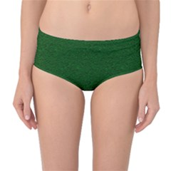 Texture Green Rush Easter Mid Waist Bikini Bottoms by Simbadda
