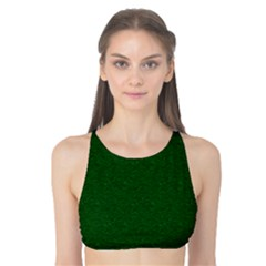 Texture Green Rush Easter Tank Bikini Top by Simbadda
