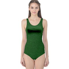 Texture Green Rush Easter One Piece Swimsuit by Simbadda