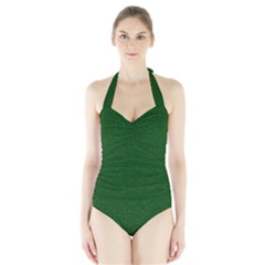 Texture Green Rush Easter Halter Swimsuit by Simbadda