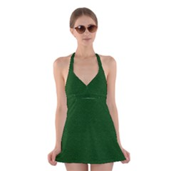 Texture Green Rush Easter Halter Swimsuit Dress