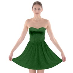 Texture Green Rush Easter Strapless Bra Top Dress by Simbadda