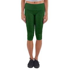 Texture Green Rush Easter Capri Yoga Leggings