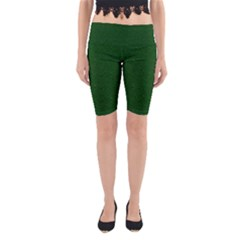 Texture Green Rush Easter Yoga Cropped Leggings