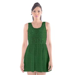 Texture Green Rush Easter Scoop Neck Skater Dress by Simbadda