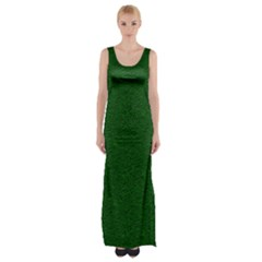 Texture Green Rush Easter Maxi Thigh Split Dress by Simbadda