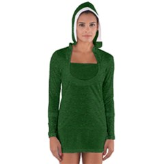 Texture Green Rush Easter Women s Long Sleeve Hooded T-shirt by Simbadda