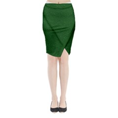 Texture Green Rush Easter Midi Wrap Pencil Skirt by Simbadda