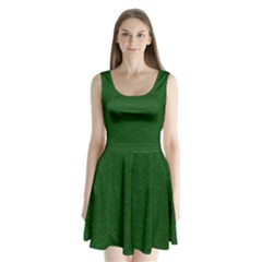 Texture Green Rush Easter Split Back Mini Dress