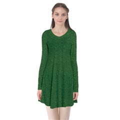 Texture Green Rush Easter Flare Dress by Simbadda