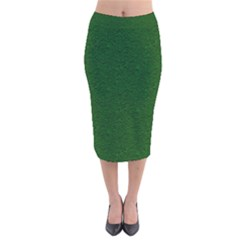 Texture Green Rush Easter Velvet Midi Pencil Skirt