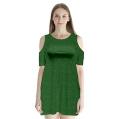 Texture Green Rush Easter Shoulder Cutout Velvet  One Piece by Simbadda