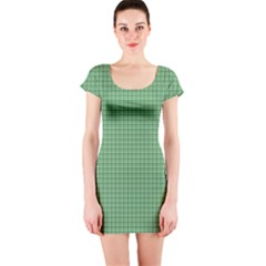 Green1 Short Sleeve Bodycon Dress by PhotoNOLA