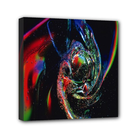 Abstraction Dive From Inside Mini Canvas 6  X 6  by Simbadda