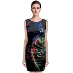 Abstraction Dive From Inside Classic Sleeveless Midi Dress