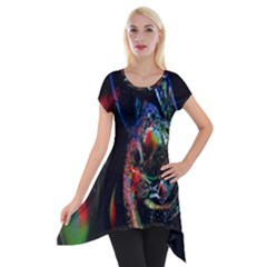 Abstraction Dive From Inside Short Sleeve Side Drop Tunic by Simbadda