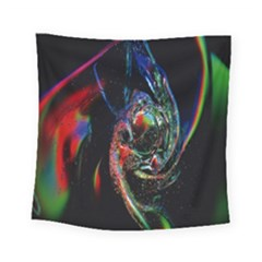 Abstraction Dive From Inside Square Tapestry (small) by Simbadda