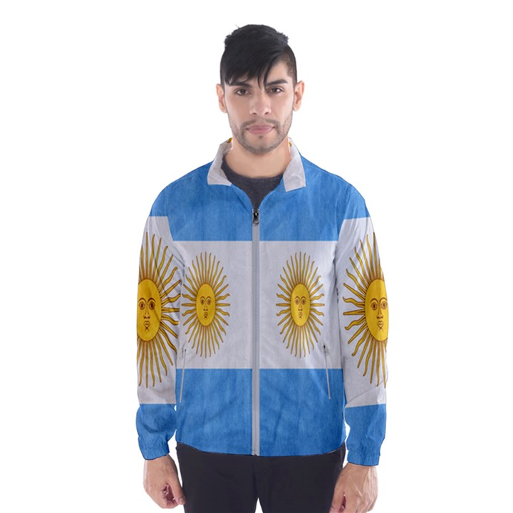 Argentina Texture Background Wind Breaker (Men)
