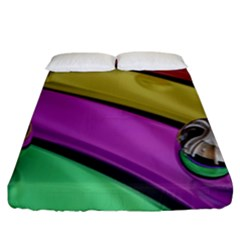 Balloons Colorful Rainbow Metal Fitted Sheet (king Size) by Simbadda