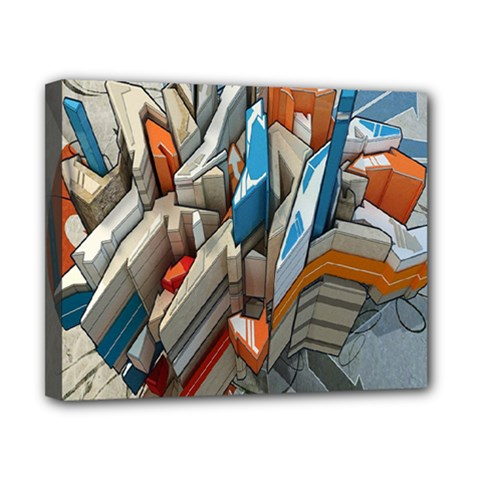 Abstraction Imagination City District Building Graffiti Canvas 10  X 8  by Simbadda