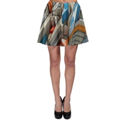 Abstraction Imagination City District Building Graffiti Skater Skirt