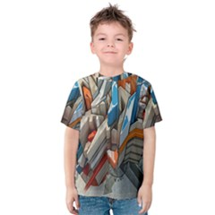 Abstraction Imagination City District Building Graffiti Kids  Cotton Tee