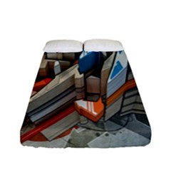 Abstraction Imagination City District Building Graffiti Fitted Sheet (full/ Double Size) by Simbadda