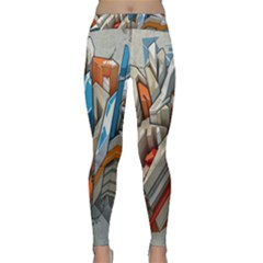 Abstraction Imagination City District Building Graffiti Classic Yoga Leggings