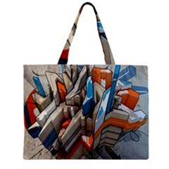 Abstraction Imagination City District Building Graffiti Zipper Mini Tote Bag by Simbadda