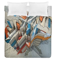 Abstraction Imagination City District Building Graffiti Duvet Cover Double Side (queen Size)