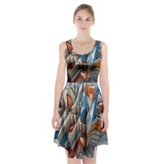 Abstraction Imagination City District Building Graffiti Racerback Midi Dress by Simbadda