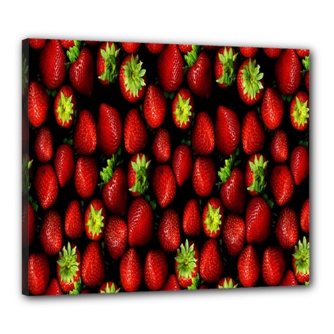 Berry Strawberry Many Canvas 24  X 20  by Simbadda