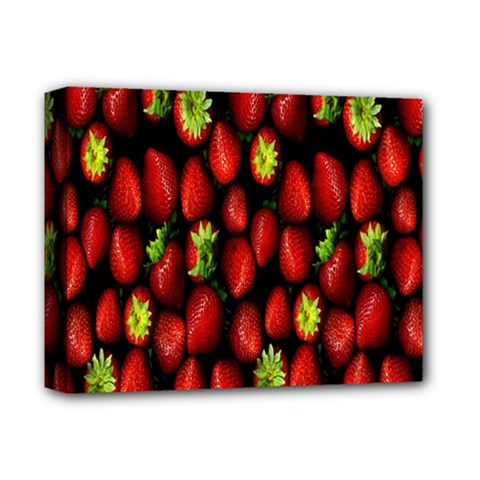 Berry Strawberry Many Deluxe Canvas 14  X 11