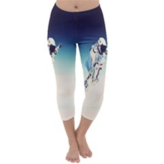 Astronaut Capri Winter Leggings  by Simbadda