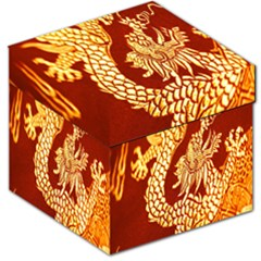 Fabric Pattern Dragon Embroidery Texture Storage Stool 12