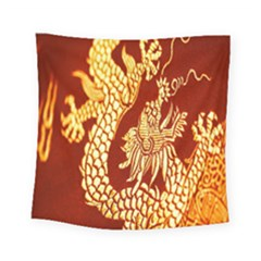 Fabric Pattern Dragon Embroidery Texture Square Tapestry (small) by Simbadda